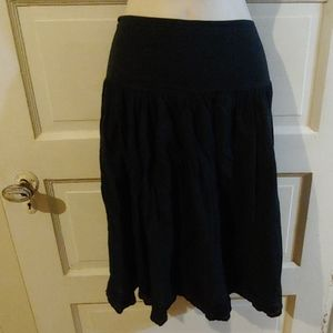 Gap Navy Peasant Eyelet Embroidered Skirt 14